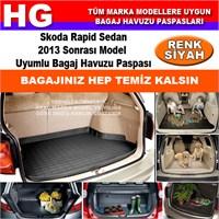 Skoda Rapid 2013 Sonrası Siyah Bagaj Havuzu Paspası 39100