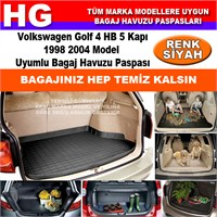 Golf 4 Hb 1998 2004 Siyah Bagaj Havuzu Paspası 39130