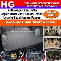 Yeni Jetta Cepsiz 2011 Sonrası Gri Bagaj Havuzu Paspası 39153