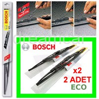 Bosch Eco 500 mm.x2 Ad. Universal Quick-Clip Telli Grafitili Silecek Takım 3397005161