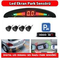 AutoCet Digital Ekranlı 4 Sensörlü Park Sensörü -3296a