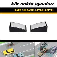 Rotacar Oynarlı Kare Siyah Kör Nokta Aynası 2 Adet 39208