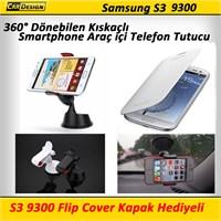 CRD Samsung S3 9300 Kıskaçlı Araç İçi Telefon Tutacağı (360° Dönebilir)