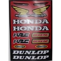 Tex 662 Honda Stiker Kırmızı