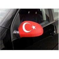 Otokulak - Otomobil Ayna Kılıfı Türk Bayraklı