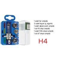 ModaCar H4 Yedek Ampül Sigorta Seti 011213