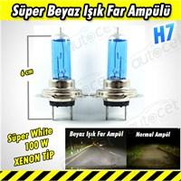 AutoCet Süper Beyaz Işık H7 Xenon Tip Far Ampülü 3434a
