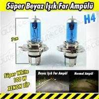 AutoCet Süper Beyaz Işık H4 Xenon Tip Far Ampülü 3435a