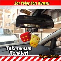Autocet Sarı Kırmızı Zar Peluş Araç Süsü 3463a