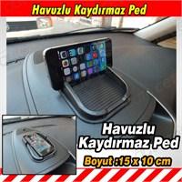 AutoCet SİYAH Kaydırmaz Havuzlu Torpido Pedi 3468a