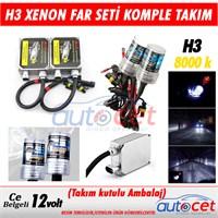 AutoCet H3 Xenon Far Seti 8000K Işık Rengi 3472a