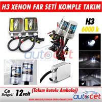AutoCet H3 Xenon Far Seti 6000K Işık Rengi 3473a