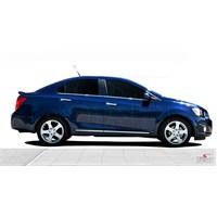 S-Dizayn Chevrolet Aveo Sd 2012 Üzeri Kapı Koruma Çıtası Krom P.Çelik + Abs Plastik 8 Prç.