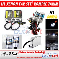 AutoCet H1 Xenon Far Seti 6000K Işık Rengi 3475a