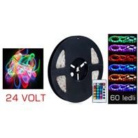 Carub Kumandalı Şerit Led 5 Metre 60 SMD 15 Renkli 24 Volt 4330125