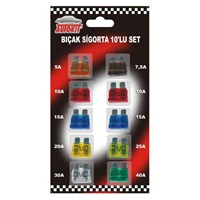 Autokit Bıçak Sigorta 10'Lu Set Normal