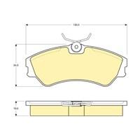 Bosch - Fren Balatası Ön (Vw Transporter/Caravelle T4 (09/90-) [Wva 20124] - [ 130X54,5X19 Mm ] - - Bsc 0 986 Tb2 667