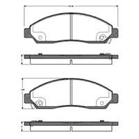 Bosch - Fren Balatası Ön ( D-Max (8Dh) 2.4 4X4,3.5 V6 24V 4X4 - Bsc 0 986 Tb3 042