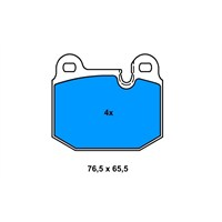 Bosch - Fren Balatası Ön Fişli (Bmw 3 Serıe(E21) - Bsc 0 986 565 881