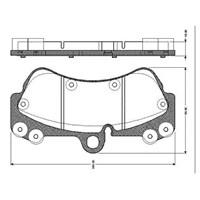 """Bosch - Fren Balatası Ön (Vw Touareg (10/02-) 17"""" Iant) [Wva 23692] - [ 190,2X99,5X16,6 Mm ] - - Bsc 0 986 Tb2 454"""