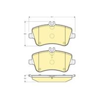 Bosch - Fren Balatası Ön (Mb C Serısı (W203)(Cl203)(05/00-) [Wva 23145] - [ 131,1X69,8/62,1X19,5 Mm ] - - Bsc 0 986 Tb2 814