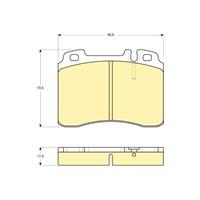 Bosch - Fren Balatası Ön (Mb 190 (W201)(10/82-08/93) [Wva 21153] - [ 98,8X73,5X17,5 Mm ] - - Bsc 0 986 Tb2 203
