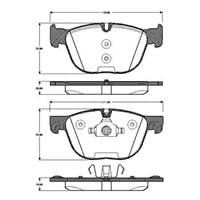 Bosch - Fren Balatası Ön (Bmw E70 X5 3.0D, 3.0Si, 4.8İ (02/20 - Bsc 0 986 Tb3 035