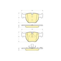 Bosch - Fren Balatası Ön (Land Rover Range Rover Iıı (Lm)(03/02-) [Wva 23399] - [ 155,4/156,4X73,5X19 Mm ] - - Bsc 0 986 Tb2 444