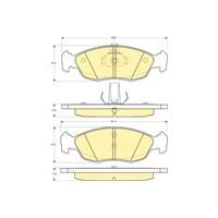 Bosch - Fren Balatası Ön (Cıtroën Saxo (S0) [ 140,20/141,40X47,5X17 Mm ] - - Bsc 0 986 Tb2 026