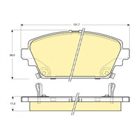 Bosch - Fren Balatası Ön (Honda Accord Vıı (Cg) [Wva 23529] - [ 131,7X58,5X17,2 Mm ] - İkaz Kablolu - Bsc 0 986 Tb2 340
