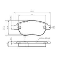 Bosch - Fren Balatası Ön -(Cıtroën Xsara Pıcasso (N68) (11/2001-) [Wva 23600] - [ 137X57,4X19 Mm ] - - Bsc 0 986 Tb2 409
