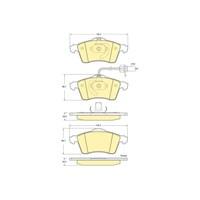Bosch - Fren Balatası Ön Vw Transporter T.4 2.5 Tdi - Bsc 0 986 Tb2 304