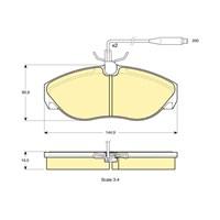Bosch - Fren Balatası Ön 1400 Kg. Ducato-Boxer-Jumper (94-02) - Bsc 0 986 Tb2 261