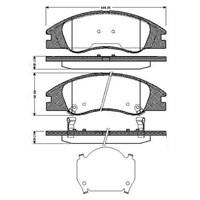 Bosch - Fren Balatası Ön (Kia Cerato (04/04-) [ 165X59x17,8/17 Mm ] - İkaz Kablolu - Bsc 0 986 Tb2 892