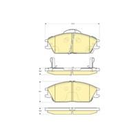 Bosch - Fren Balatası Ön (Hyundaı Accent (Lc)(01/00-) [ 127,5X49,1X16/15,6 Mm ] - İkaz Kablolu - Bsc 0 986 Tb2 116