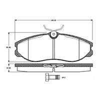 Bosch - Fren Balatası Ön (Nissan Terrano Iı (R20)(02/93-) [Wva 21481] - [ 145X55,6X15,5 Mm ] - - Bsc 0 986 Tb2 252