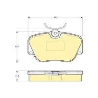 Bosch - Fren Balatası Ön -(Mb 190 (W201) (10/82-08/93) [Wva 21055] - [ 93,2X53,1X17,8 Mm ] - - Bsc 0 986 Tb2 015