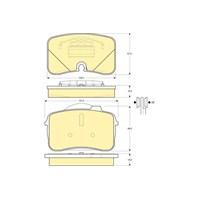 Bosch - Fren Balatası Ön (Audı 100 (44) [Wva 21306] - [ 100,00/107,20X61,00/66,00X16,5 Mm ] - - Bsc 0 986 Tb2 638