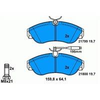 Bosch - Fren Balatası Ön İkaz Kablolu 1800 Kg. Ducato-Boxer-Jumper (94-02) - Bsc 0 986 Tb2 029
