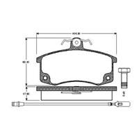 Bosch - Fren Balatası Ön (Lada Samara (2108)(01/86-12/00) '1300 (05.1990-12.2000) [ 104,3X62,1X17,5 Mm ] - - Bsc 0 986 Tb2 567