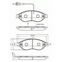 Bosch - Fren Balatası Ön Ducato Iıı-Boxer Iıı-Jumper Iıı 06> - Bsc 0 986 Tb2 944