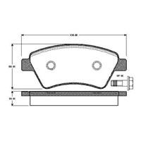 Bosch - Fren Balatası Ön Kango 1.6 16V-1.9 Dcı 01-07 Kco/Megan Iı 1.5 Dcı-1.9 Dcı-2.0İ/Scenıc Iı 1.9 Dcı - Bsc 0 986 Tb2 441