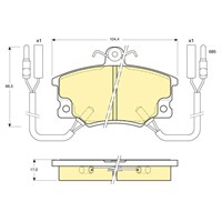 Bosch - Fren Balatası Ön Tempra/Tipo Ym - Bsc 0 986 Tb2 006