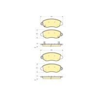 Bosch - Fren Balatası Ön Ford V 184 - Bsc 0 986 Tb2 049
