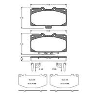 Bosch - Fren Balatası Ön (Subaru Impreza (Gd) [ 119,2X70x14,5 Mm ] - İkaz Kablolu - Bsc 0 986 Tb2 294