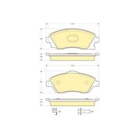 Bosch - Fren Balatası Ön (Opel Corsa C (09/00-) [Wva 23225] - [ 131,6X55,5X16,8 Mm ] - - Bsc 0 986 Tb2 380