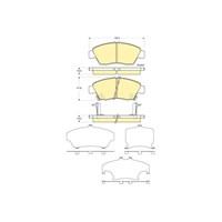 Bosch - Fren Balatası Ön (Honda Cıvıc Iv (Eg)(Ma) [Wva 21694] - [ 136,5X57,8X17,3/16,5 Mm ] - İkaz Kablolu - Bsc 0 986 Tb2 232