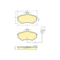 Bosch - Fren Balatası Ön (Audı A4 (8E2) [Wva 23393] - [ 119X69,5X19,4 Mm ] - İkaz Kablolu - Bsc 0 986 Tb2 312