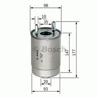 Bosch - Yakıt Filtresi Renault Fluence Megane Iıı 1.5 Dcı - Bsc F 026 402 067