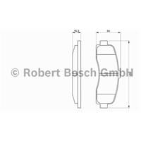 Bosch - Fren Balatası Ön (Nissan Mıcra (K11)(08/92-) [Wva 21626] - [ 120,8X45x15 Mm ] - - Bsc 0 986 Tb2 239
